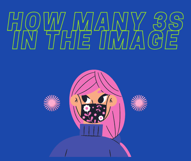 How Many 3s In The Image?