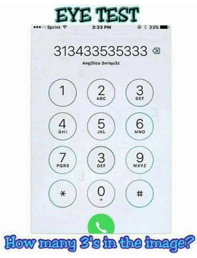 How many 3s in the image